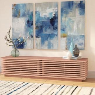 Imagen de varias piezas 'Blue Morning' en lienzo envuelto