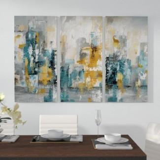 Imagen de varias piezas 'City Views II' en lienzo envuelto