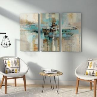 Pintura acrílica 'Morning Fjord' Imprimir imagen de varias piezas en lienzo envuelto en galería