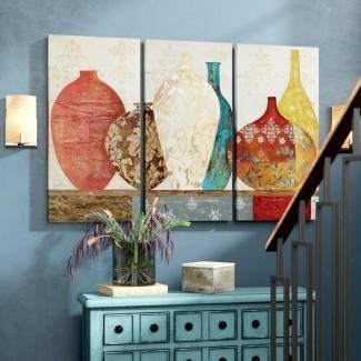 Imagen de varias piezas de 'Colección de recuerdos' sobre lienzo envuelto