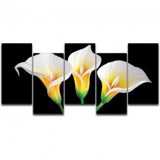 Juego de placas de arte gráfico de 5 piezas Lilies in the Dark