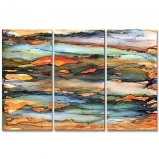 Imagen de varias piezas, impresión de 3 piezas 'Methane' sobre lienzo [19659010] Imagen de varias piezas de impresión de 'metano' en lienzo </div> </p></div> <div class=