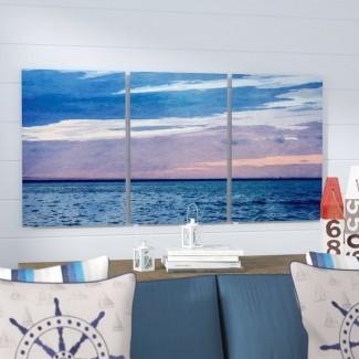 'Horizon Hues Imagen de 3 piezas de arte gráfico de 3 piezas