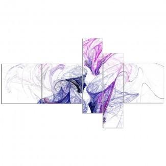 'Colour Smoke Purple' Imprimir imagen gráfica de varias piezas en lienzo