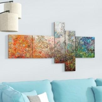 'Tablero manchado Resumen Art 'Imprimir imagen de varias piezas en lienzo