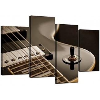 Grandes cuadros de arte de pared de lienzo de guitarra eléctrica en blanco y negro - Ilustraciones de paneles múltiples - Impresiones de música moderna - Conjunto dividido de 4 lienzos - XL - 130 cm de ancho [19659010] Cuadros de arte de pared de lona de guitarra eléctrica en blanco y negro grande - Ilustraciones de paneles múltiples - Impresiones de música moderna - Conjunto dividido de 4 lienzos - XL - 130 cm de ancho </div> </p></div> <div class=