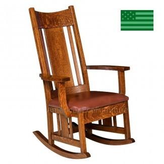 Mecedora Amish Colebrook con asiento tapizado ...