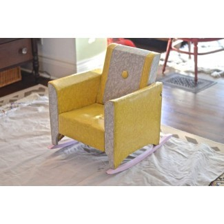 Funda tapizada de mecedora tapizada. Elegante tapizado ...
