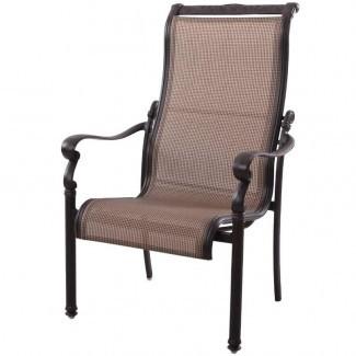 Muebles para patio Sillas de aluminio / honda Comedor con respaldo alto ...