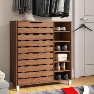 Gabinete de almacenamiento de zapatos de 18 pares