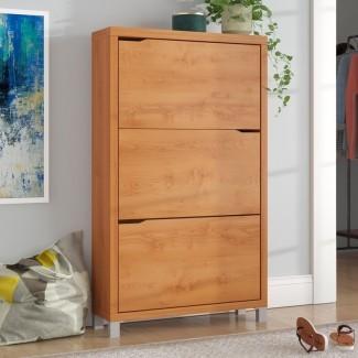 Cade Modern 18-Pair Shoe Storage Cabin et