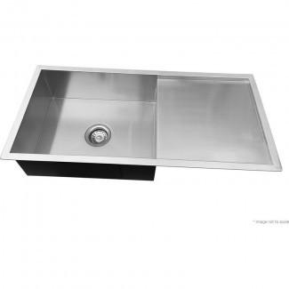 Fregadero de cocina de acero inoxidable con escurridor 960x450mm | Comprar ...