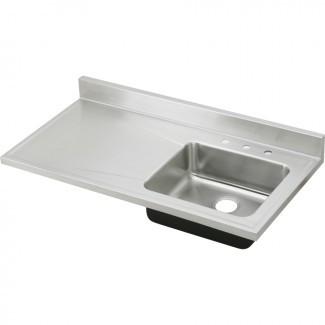 Compre Elkay Gourmet Lustertone de 25 '' x 48 '' de un solo lavabo ...