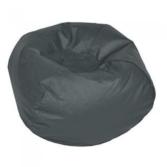 ACEssentials Vinil Bean Bag Chairs para niños y adolescentes, gris