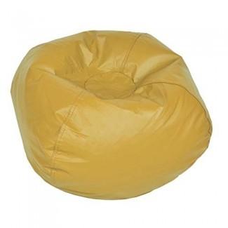 ACEssentials Vinil Bean Bag Chairs para niños y adolescentes, amarillo