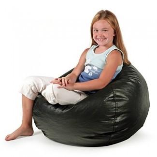 Bean Bag Chair Pequeño vinilo estándar Cozy Comfort Asientos Muebles para niños Dormitorio Sala de estar Duradero, a prueba de manchas, Ideal para leer Jugar videojuegos Mirar televisión y relajarse.
