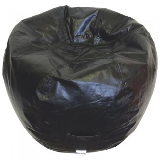 Silla moderna para bolsas de frijoles de vinilo - Negro (96013-009): Niños