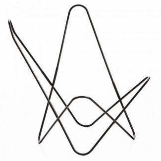 Estructura de silla Butterfly Airborne Black Steel - Colores verdaderos