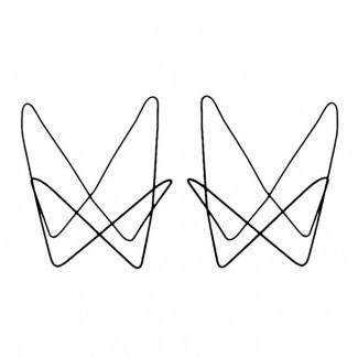 Marcos de silla de mariposa de hierro | Chairish