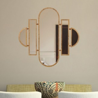 Espejo decorativo de pared con tocador ovalado geométrico Laurens