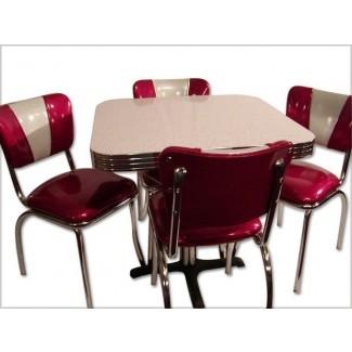 retro-cocina-mesa-y-2-sillas-idea-diseño | KITCHENTODAY