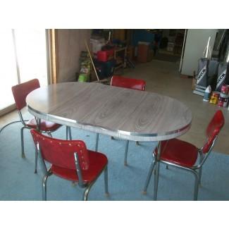 Mesa y sillas de cocina vintage ORIGINAL de los años 50 en venta en
