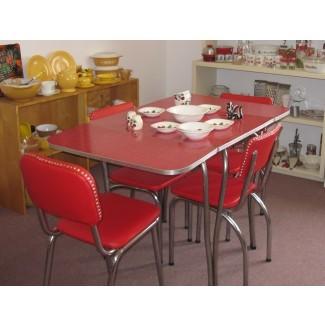 1950 mesa y sillas de cocina retro | My Web Value