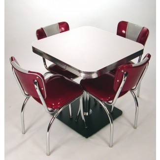 Mesas cuadradas: estilo retro, boomerang, hielo agrietado ...