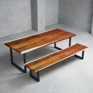 Juego de comedor Eatonton de 2 piezas de madera maciza