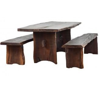 Juego de comedor de madera maciza Kirkwood de 3 piezas