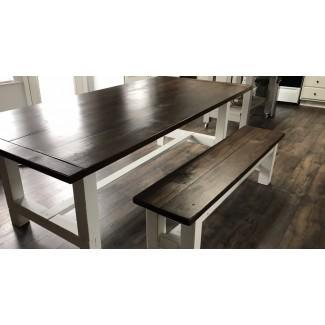 Banco de mesa de cocina de granja - Creaciones de muebles de madera