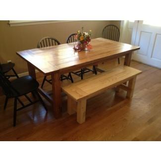Planes gratuitos para hacer un banco de mesa rústico de granja |