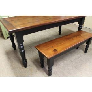 mesa de granja rústica