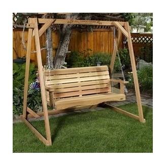 Trabajo de madera Columpios de porche de madera independiente Planos PDF