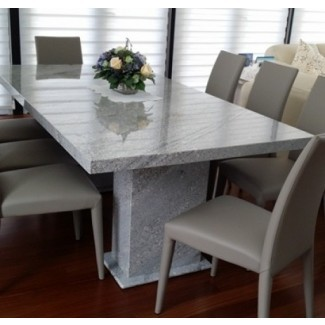 Mesa de comedor de granito tropical gris