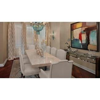 15 impresionantes mesas de comedor con encimera de granito | Home Design