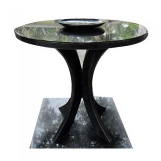 Mesa de comedor redonda con encimera de granito | Monolith Arts ...