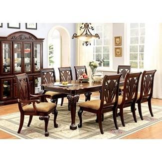 24/7 Compre en casa 247SHOPATHOME IDF-3185T-9PC Juegos de comedor, 9 piezas Juego de 9 piezas