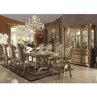 Juego de comedor formal de 9 piezas Inland Empire Furniture Vendome Gold