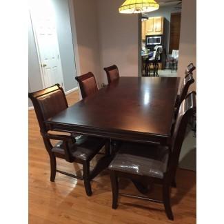 Mesa de comedor formal de 7 piezas con juego de muebles y 8