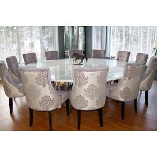 Mesa de comedor formal redonda para 8 | BreakPR