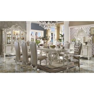 "Mesa de comedor formal Versailles Bone White Finish 120 ""..."
