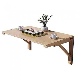 Mesa plegable Montado en la pared, montado en la pared Mesa plegable, mesa de comedor, mesa de estudio, mesa para computadora, madera maciza de varios tamaños Opcional
