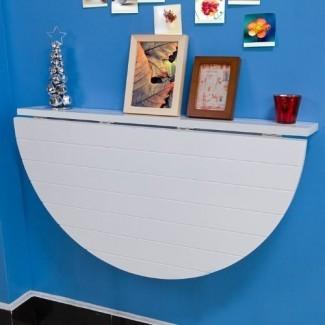 SoBuy Madera maciza, montada en la pared, semicircular de hoja abatible ...