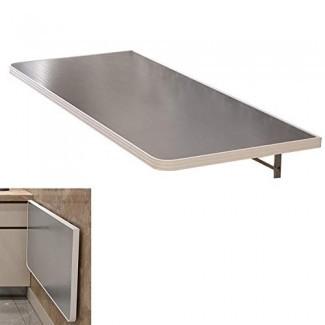 YXX- Mesas desplegables de acero inoxidable montadas en la pared para cocina, escritorio convertible plegable para ahorrar espacio para lavadero, hasta 100 kg