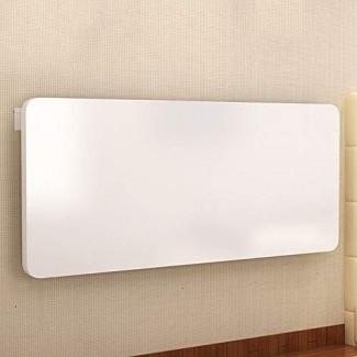 Mesa plegable plegable de escritorio de mesa abatible Mesa de comedor Space Saver Fold Convertible Desk White