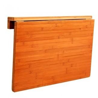 Mesa plegable de pared YXX- Lavandería de madera maciza Cocina Comedor Escritorio Pequeño Escritorio de madera de hoja abatible montado en la pared con una carga máxima de 50 kg y solo 7 cm después del plegado