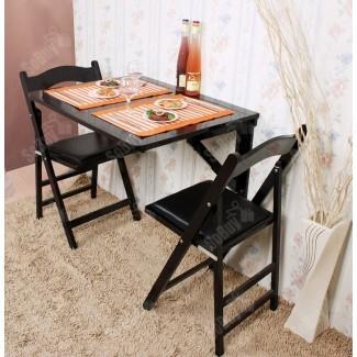 Mesa abatible de pared, comedor plegable de madera maciza ...