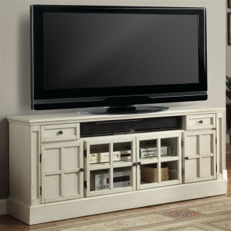 "Charlotte 72"" Consola de TV con centro de energía en antigüedades"