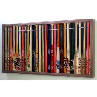 """Estuche para exhibición de caja de sombra para banderín de bate de béisbol de 18 """"Mini"""